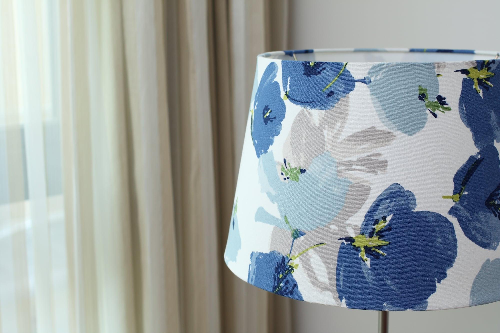 英國Romo布|藍色罌粟花紋|布藝燈罩