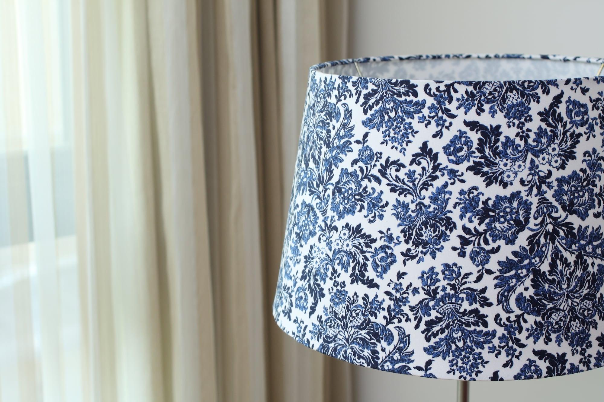 青花瓷花布|布藝燈罩