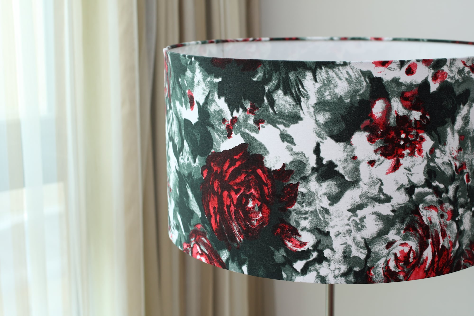 印象派玫瑰花紋|布藝燈罩