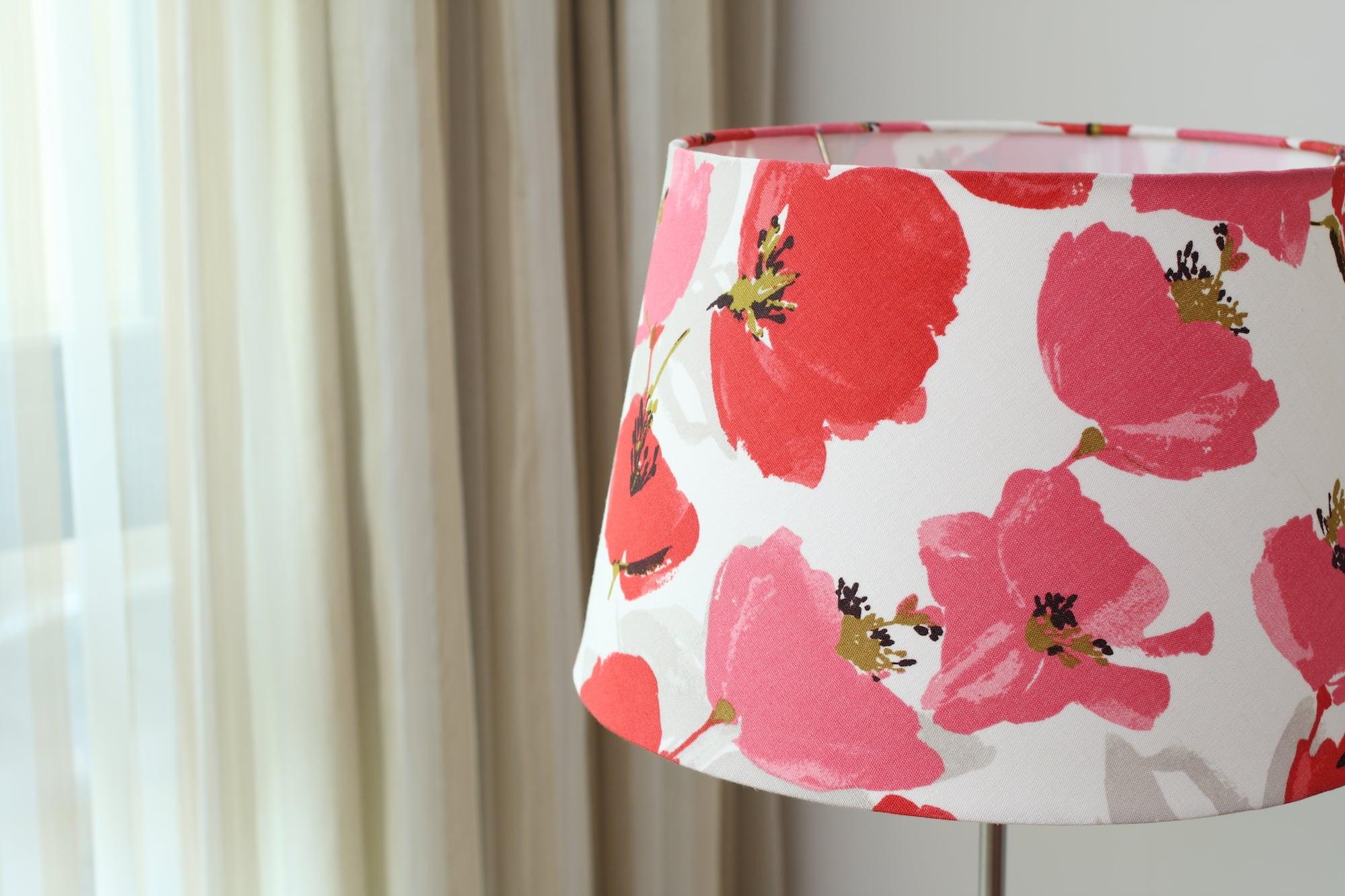 英國Romo布|紅色罌粟花紋|布藝燈罩
