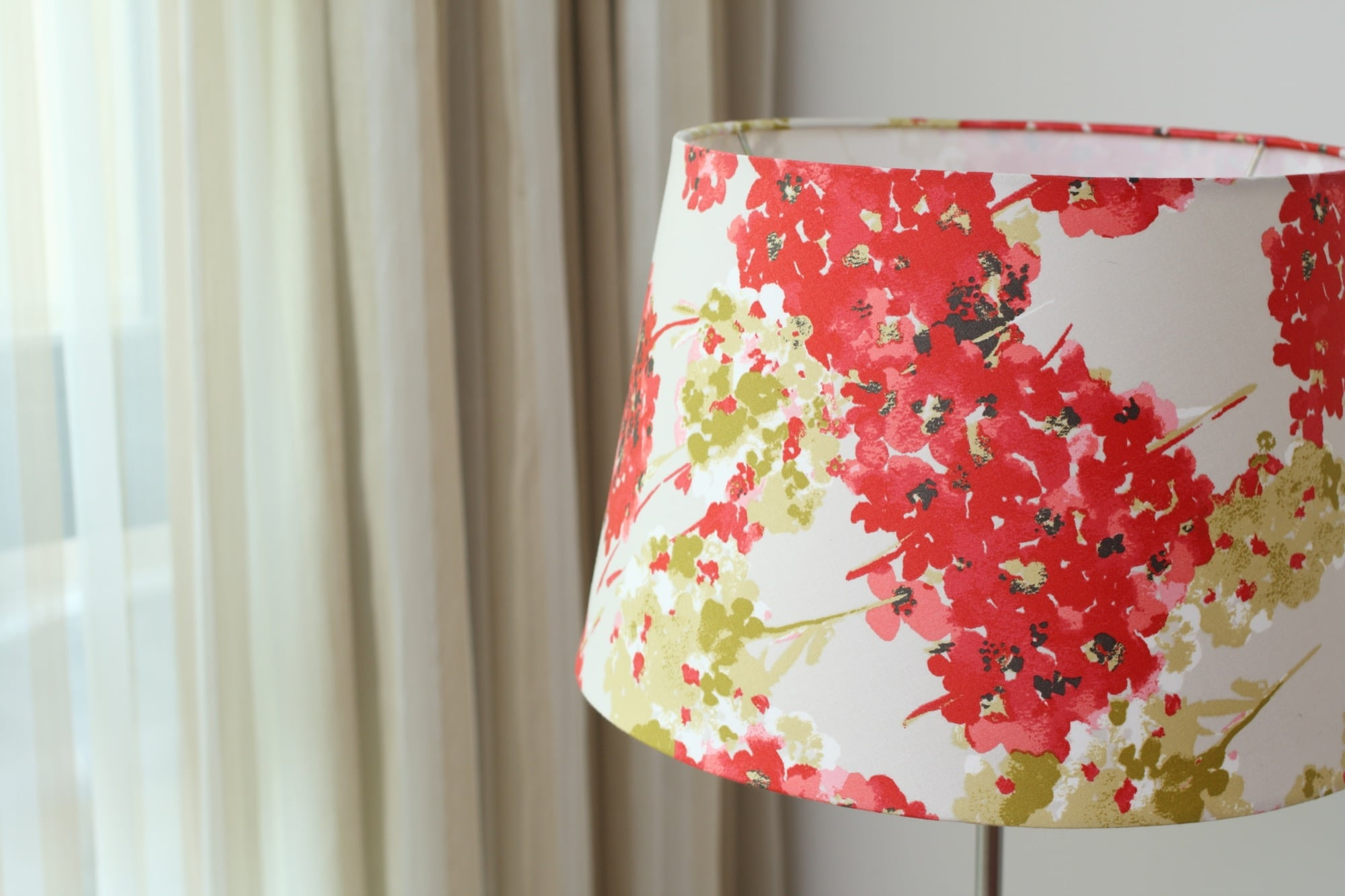 英國Romo布|紅繡球花花紋|布藝燈罩