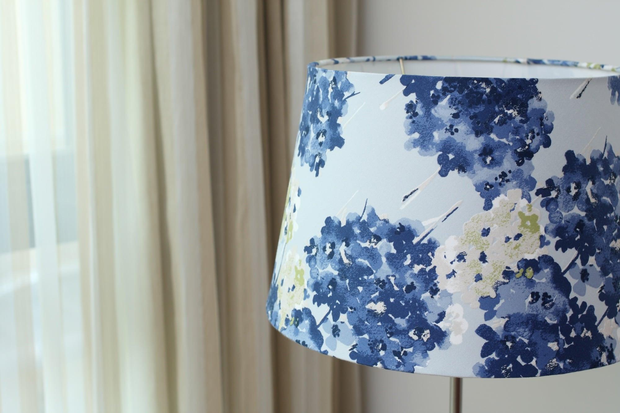 英國Romo布|藍繡球花花紋|布藝燈罩